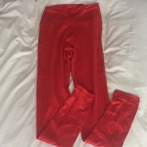 aerie red legging with side pockets NWT